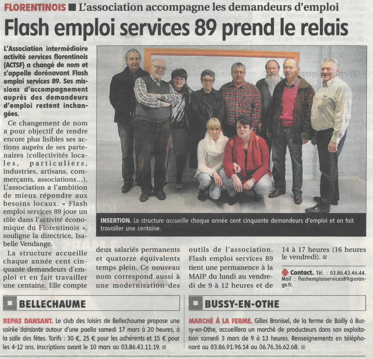 Flash emploi 18